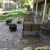 Landscaping Paver Patio, Boulder Wall