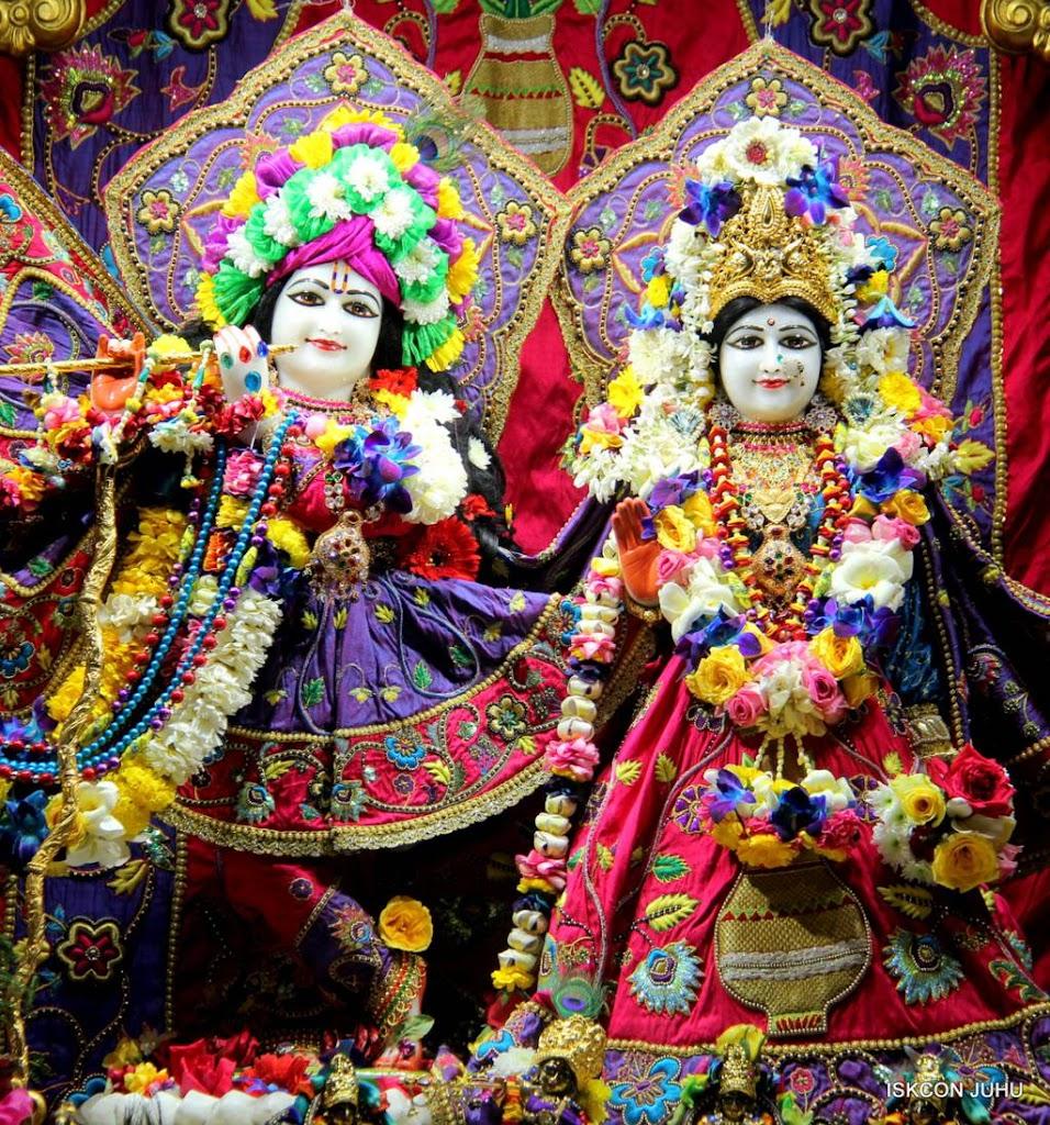 ISKCON Juhu Sringar Deity Darshan 29 Jan 2016 (2)
