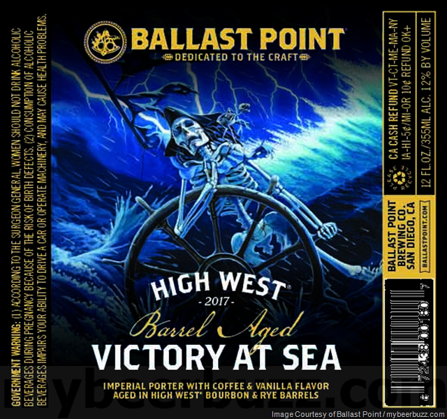 Ballast Point Adding New High West Barrel Aged Victory At Sea