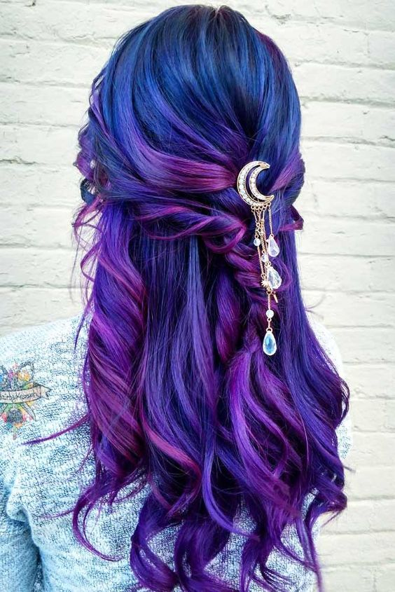 Blue Hairstyles For long Hair-It Is Different 2017 13