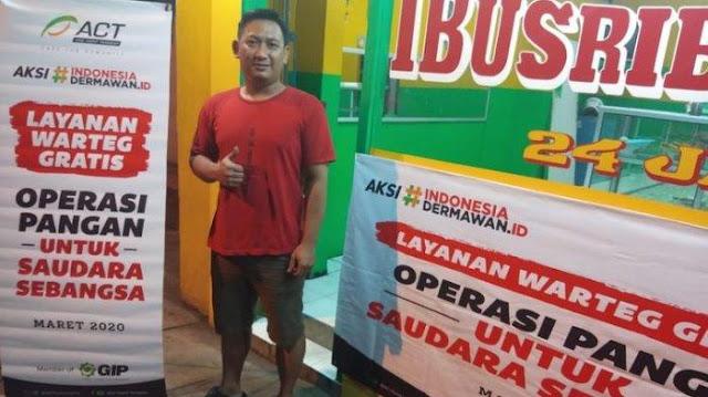 Aksi Peduli Wabah Corona, 50 Warteg Ini Gratiskan Makan Siang