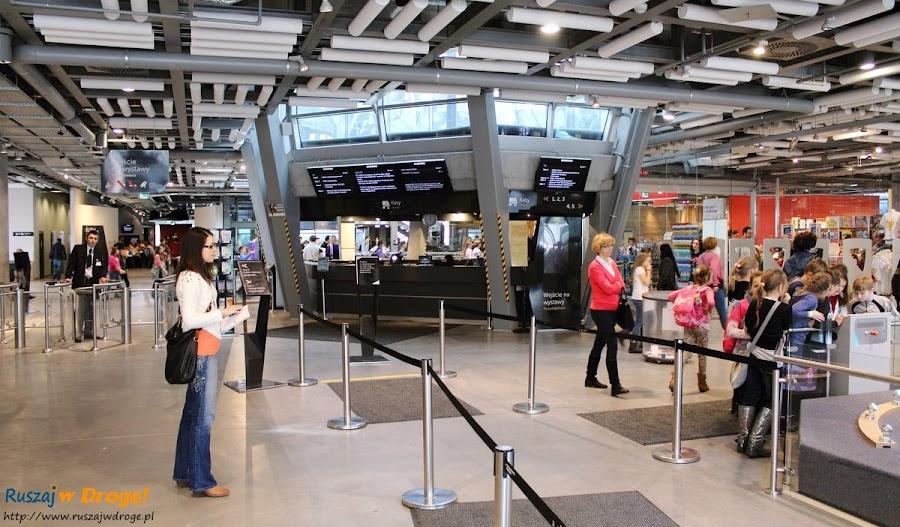centrum nauki kopernik: wejście