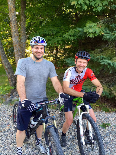 John and John heading out for a ride on the Loppet course Wednesday evening