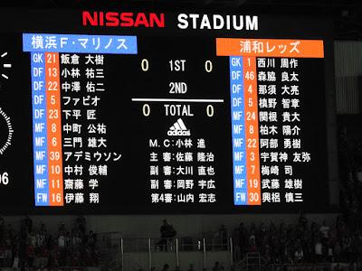 横浜F・マリノス vs 浦和レッズ 先発メンバー