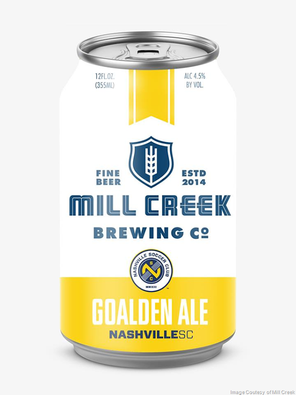 Mill Creek Brewing & Nashville Soccer Team Up For Goalden Ale Cans