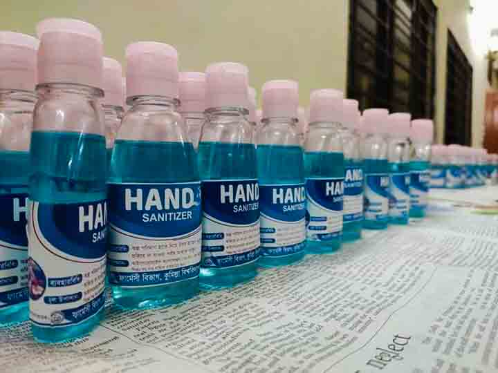 hand sanitizer Comilla University