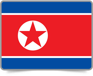 North Korean framed flag icons with box shadow
