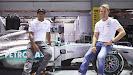 Lewis Hamilton & Nico Rosberg at Mercedes