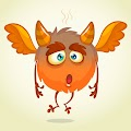 Cartoon Horned Funny Monster Illustration Excited Monster Funny Free Download Vector CDR, AI, EPS and PNG Formats