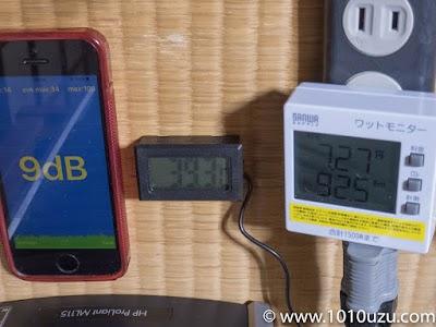 ヒートシンクファン設置後・BIOS:9dB・39.3℃・92.5W