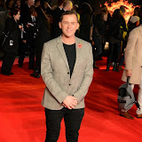 WWW.ENTSIMAGES.COM -    Scott Mills    at The Hunger Games - Mockingjay - part 1 - UK film premiere at Odeon Leicester Square, London November 10th 2014Premiere of latest film in the Hunger Games franchise, which this time sees Katniss lead a rebellion against the tyrannical and corrupt Capitol.                                                    Photo Mobis Photos/OIC 0203 174 1069