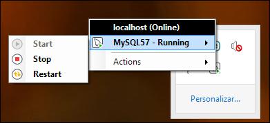 iniciar reiniciar detener MySQL Server