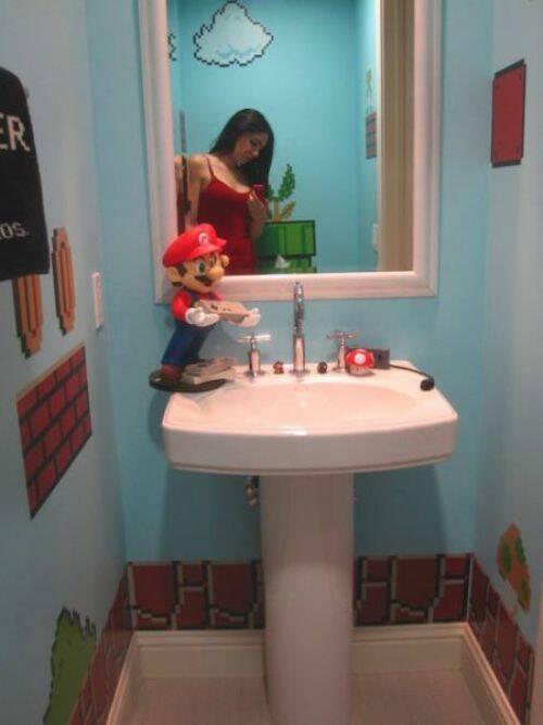 Decorar Cuarto de Baño con Super Mario Bross | Curiosidades sobre ...