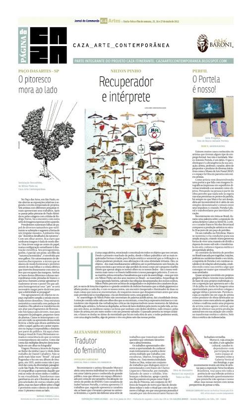 Página da Caza - 25 de Maio de 2012