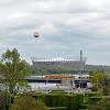 04-05-2013 | Warszawa | Stadion Narodowy i tramwajSwing na moście Śląsko-Dąbrowskim