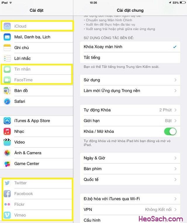 Hình 6 - Cách khóa tính năng thay đổi tài khoản iCloud cho iPhone, iPad