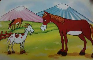La cabra y el caballo