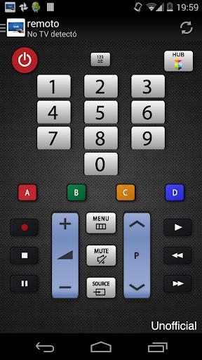 Remoto para televisor Samsung screenshot 2