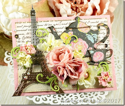Eiffel tower tea card