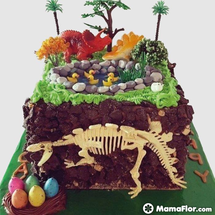 pastel de dinosaurios - 12