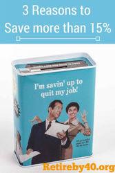 3 Reasons to Save More Than 15% thumbnail