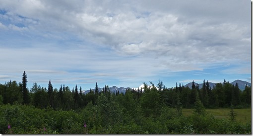 Mt. Denali, north of Alaska Veterans Memorial