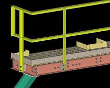 SDS2 Model of Angle Iron Handrail