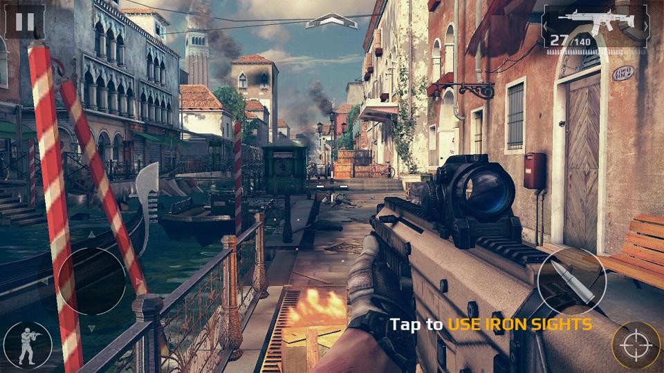 Trải nghiệm chơi game Modern Combat 5 trên Galaxy Note 5