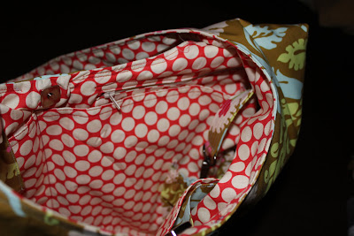 Modified pockets on Nappy Bag, by Becky Laswell.