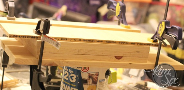 Sandwiching wood for gluing