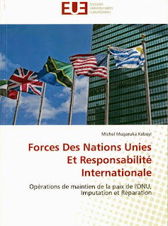 "La couverture du livre ""Forces des Nations Unies et responsabilité internationale"". Ph/ Droits Tiers."