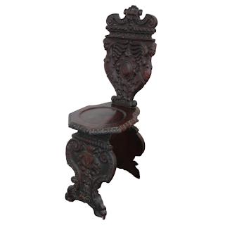 Italian Baroque Style Figure-Carved Sgabello Chair