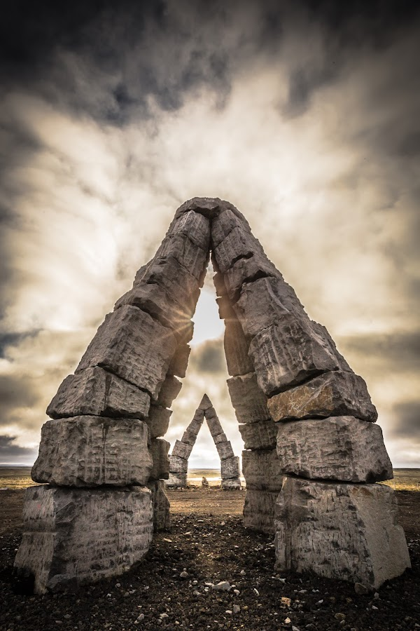 by Palmi Vilhjalmsson - Buildings & Architecture Statues & Monuments ( iceland, monument, raufarhofn, stones )