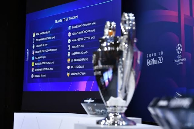 UCL Group Stage Draw : Barcelona Paired With Juventus ,Man United Face PSG, See Full List Here