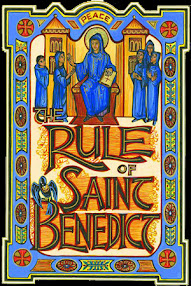 Cover of Saint Benedict's Book The Holy Rule of Sant Benedict