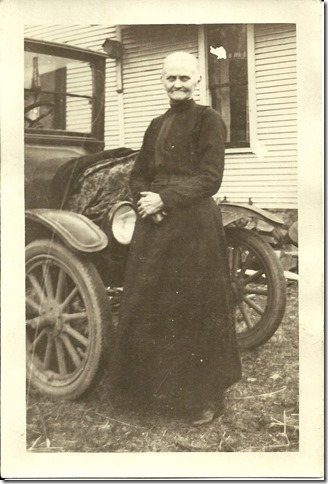 HART_Frances Georgia standing by car in her later years