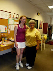 Ladies Doubles Champions: Janet and Paula