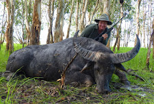 Mrs Gabriele Stork from Germany took this big bodied bull on the edge of the floodplains in January
