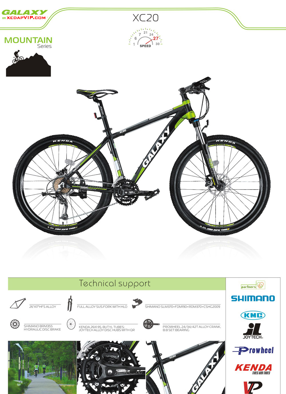 Xe dap the thao GALAXY XC20, xe dap the thao, xe dap trinx, xe đạp thể thao chính hãng, xe dap asama, xc20