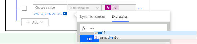 How to check for empty for null and empty Values in Power Automate?