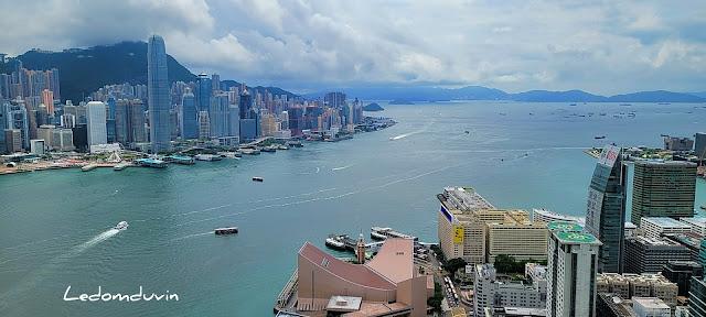 LeDomduVin on a terrace overlooking Hong Kong by ©LeDomduVin 2021