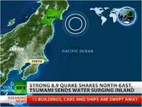 Gempa 8,9 SR Disusul Tsunami Menyapu Jepang
