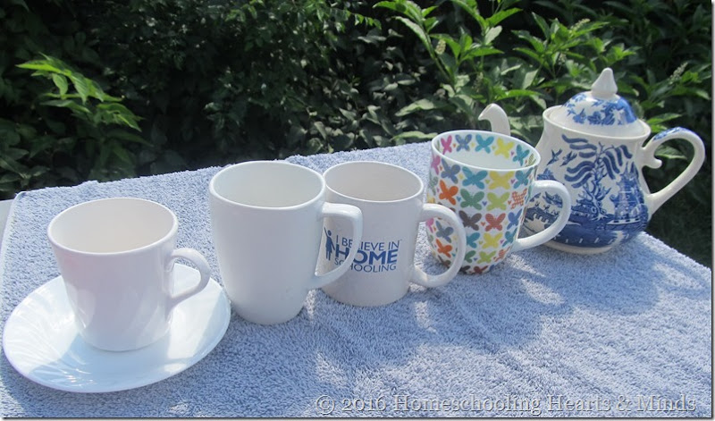 pictures of different cups and teapot