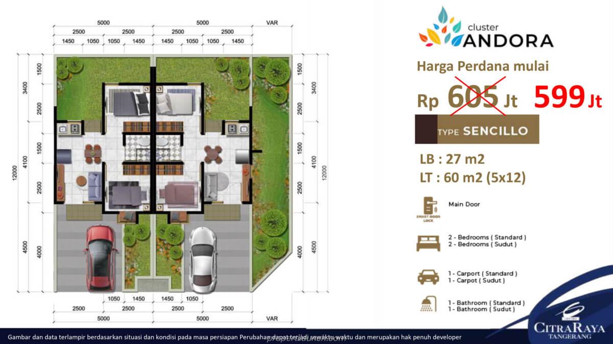 Rumah Andora Tipe 5x12