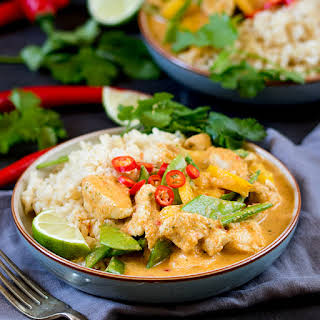 Healthier Red Thai Chicken Curry - without the shop-bought sauce!.