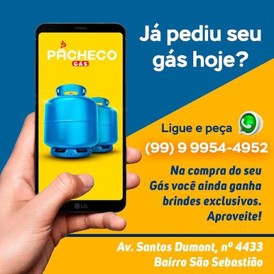 Pacheco Gás Peça Seu Gás e Ganhe Brindes EXCLUSIVOS