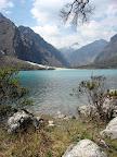 View of Lake and Cordilleras (Laguna Orconchocha, Peru)
