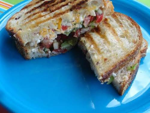"Peppy Pimento Grilled Cheese ""I made this without the jalapeños since my..."