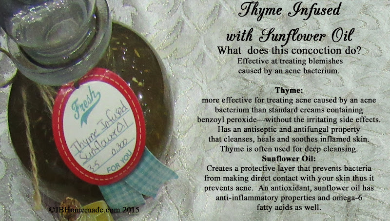 Thyme infused with Sunflower Oil