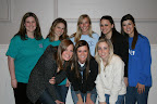 Members of Kappa Kappa Gamma sorority at Texas Christian University volunteered to serve food at the event.